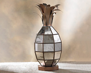 Pineapple Lantern - Antique Mirror